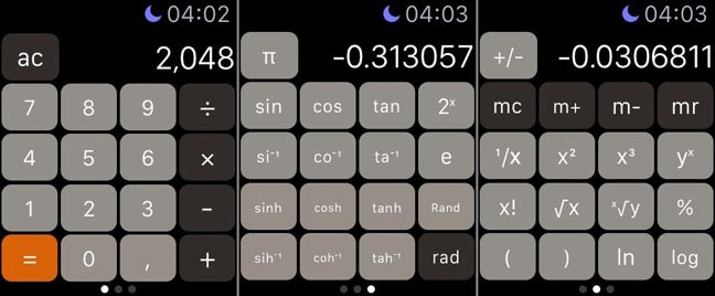 Calculator for Apple Watch