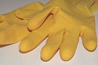Rubber gloves. Pic: How can I recycle this