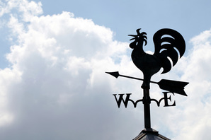 Weather vane image via Shutterstock