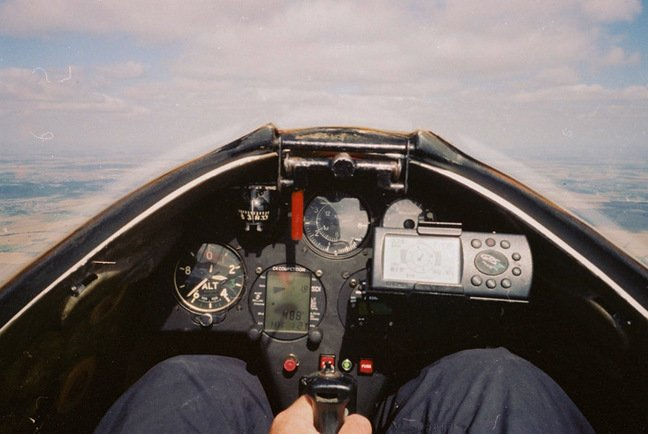 The forward view from Martin's glider