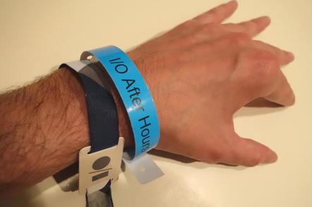 Wristbands at Google I/O 2015