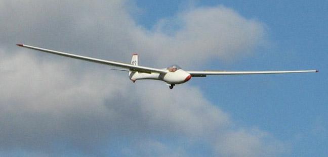Martin's glider on final approach