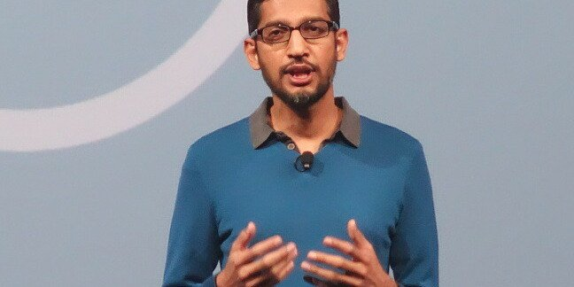 Google's Sundar Pichai, speaking at Google I/O 2015