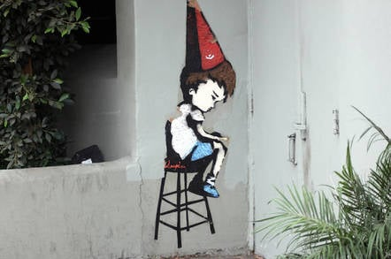 Dunce's cap graffiti by https://www.flickr.com/photos/lord-jim/ cc 2.0 attribution https://creativecommons.org/licenses/by/2.0/