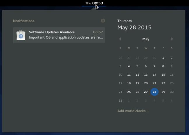 Fedora 22 notifications