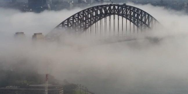 Sydney Harbour Bridge in the cloud