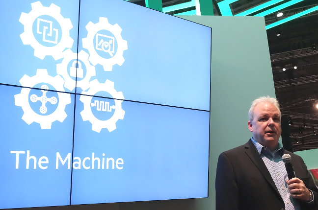 Martin Fink talking about HPE's The Machine project