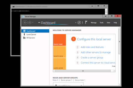 Windows Server 2016 with Local admin tools