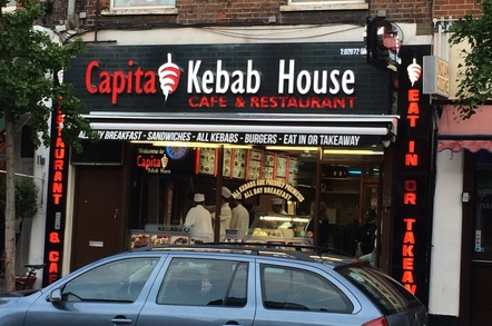 Capita kebab shop in Waterloo