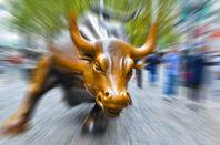 Wall St bull image via Shutterstock