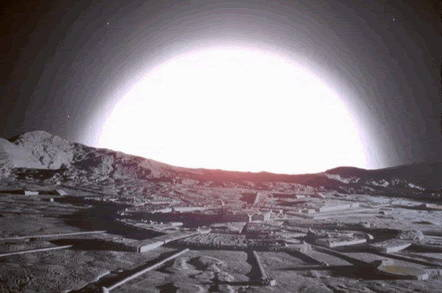 Space: 1999's nuclear explosion on the Moon