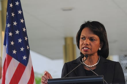 Condoleezza Rice by https://www.flickr.com/photos/usembassynewdelhi/  cc 2.0 attribution noderivs https://creativecommons.org/licenses/by-nd/2.0/