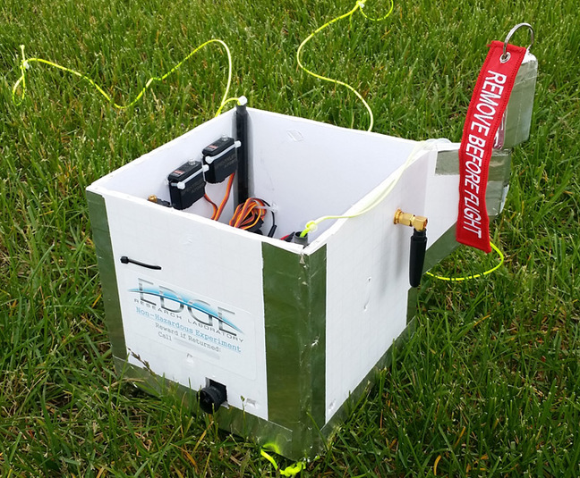 The side view of the PRATCHETT payload box