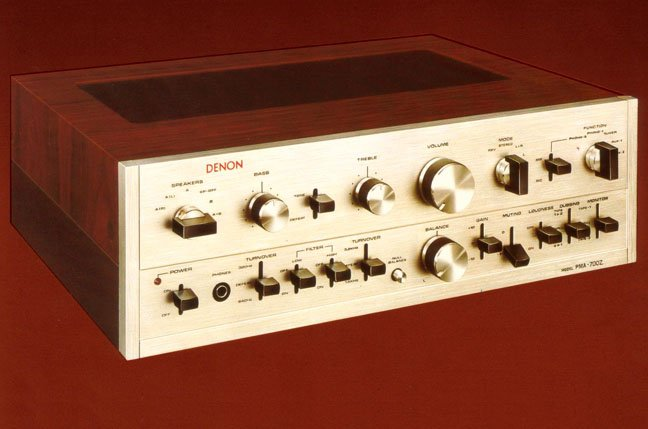 Vintage Denon PMA 7000 Z amplifier from 1975