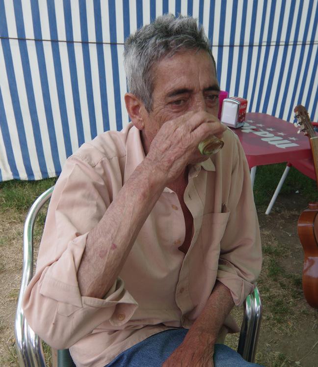 Juan drinks a shot of The Reaper