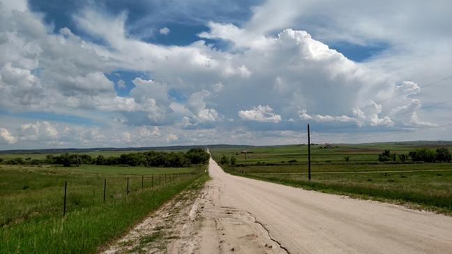 The road running through the PRATCHETT landing area