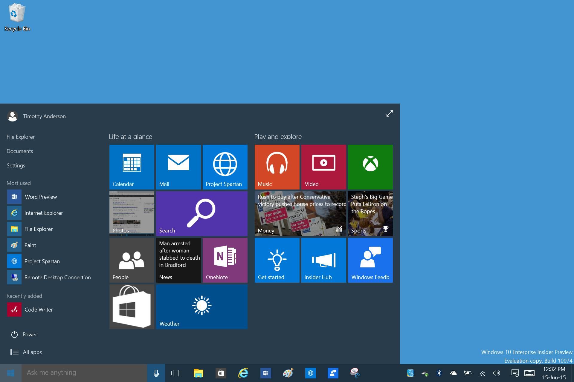 Windows 10 on Surface 3