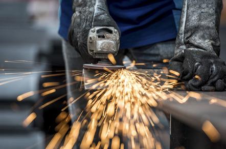 Angle grinder image via Shutterstock