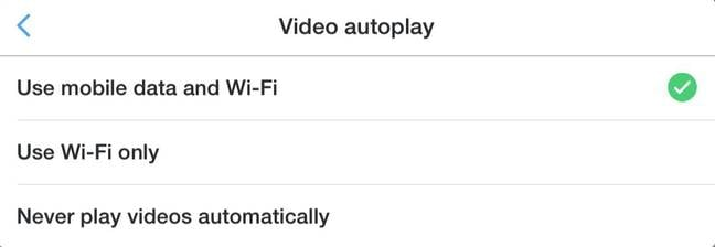 Controlling Twitter video autoplay