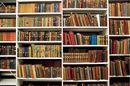 Bookshelf in the British Library basement