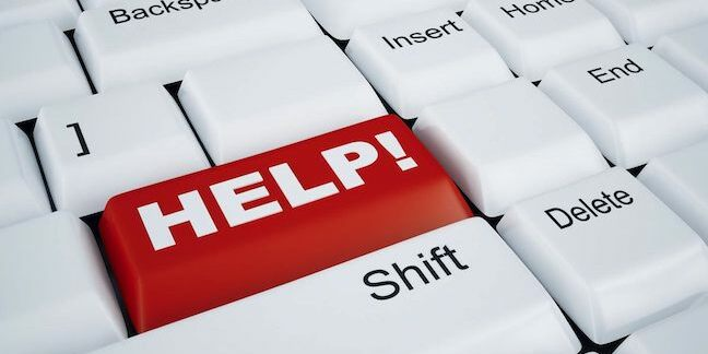 keyboard with 'Help' key