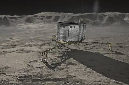 German Aerospace Center depiction of Philae on Comet 67/P