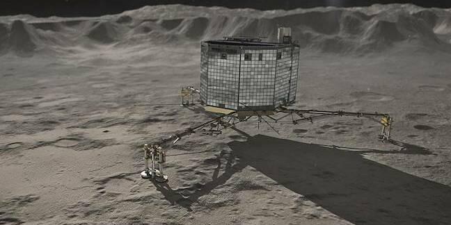 German Aerospace Center depiction of Philae on Comet 67/P