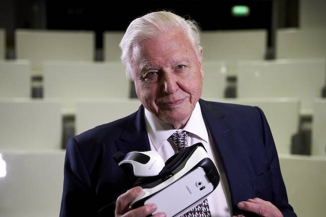 Sir David Attenborough at the NHM VR launch