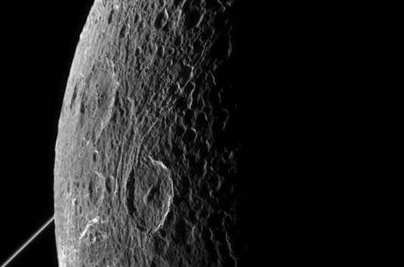 Cassini snaps Saturn's Dione moon. Image credit: NASA/JPL-Caltech/Space Science Institute