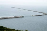 Breakwater at Portland Harbour