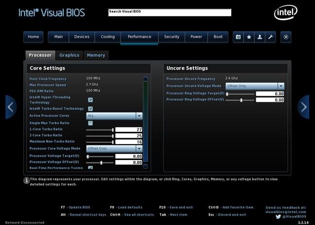 Intel NUC5i5RYK Visual BIOS