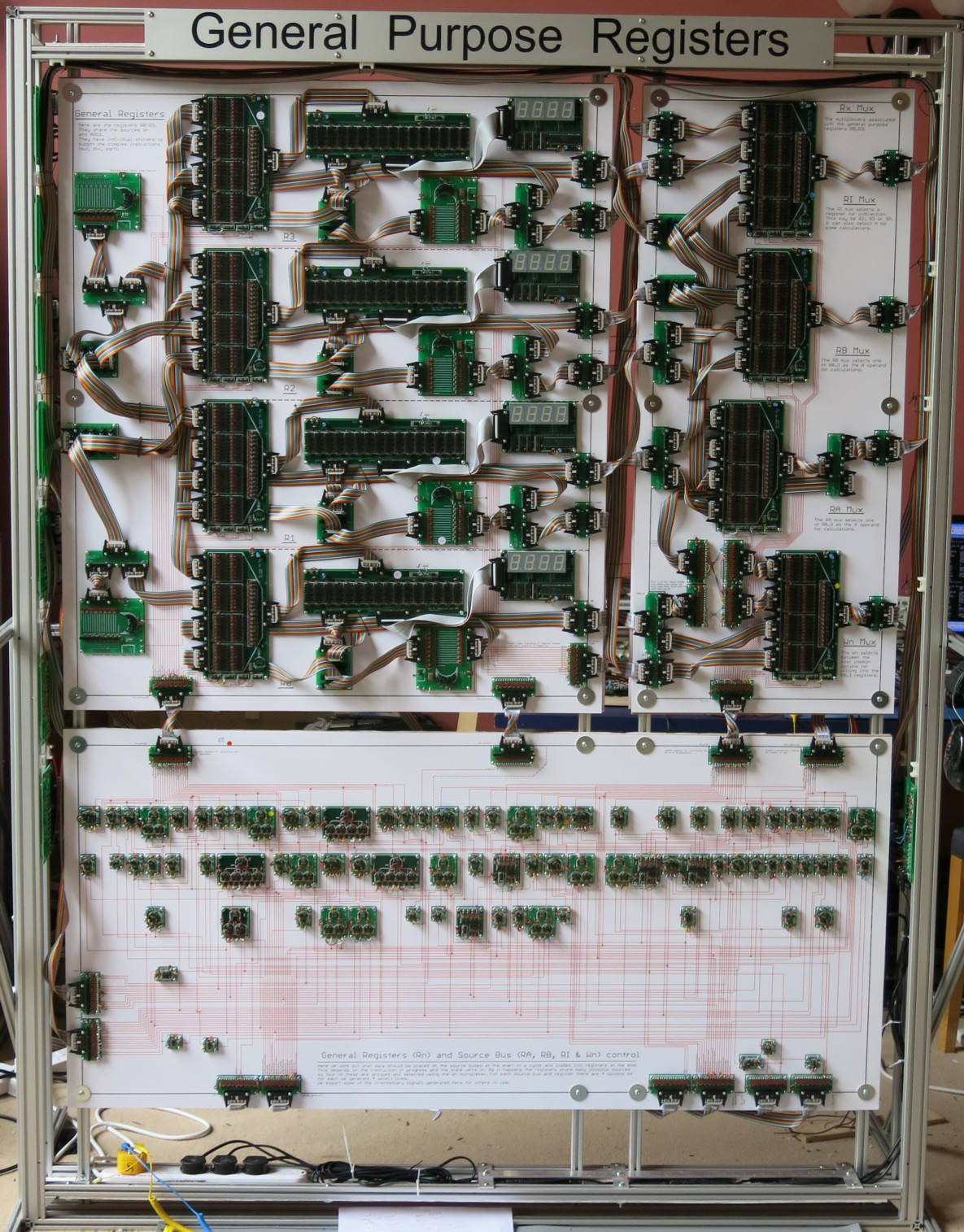 This Whopping 16 Bit Computer Processor Is Being Built By Hand Simple Cpu Diagram Transistor The Register