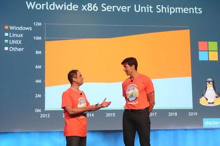 Scott Johnson and Mark Russinovich at DockerCon 2015