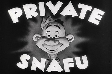 Cartoon - Private SNAFU