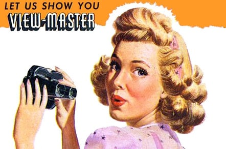 View-Master vintage advertisement