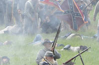 A re-enactment of the Battle of Gettysburg