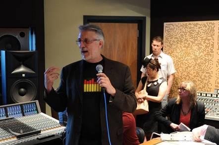 Audio engineer Frank Filipetti demonstrates hi-res audio