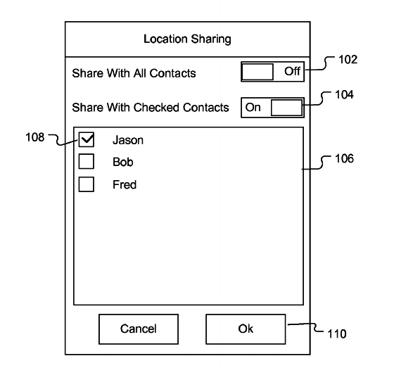 Apple location tracking patent application