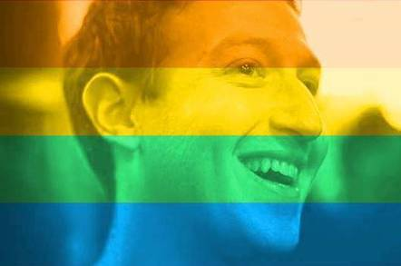Mark Zuckerberg's Facebook profile pic with rainbow filter