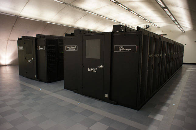 The Lotus Data centre is buried in a bond villian lair
