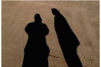 two human shadows