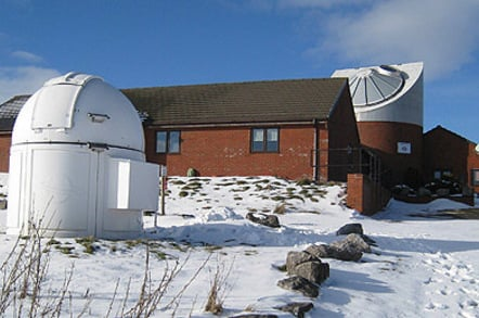 Spaceguard Center in snow, photo: The Spaceguard Center