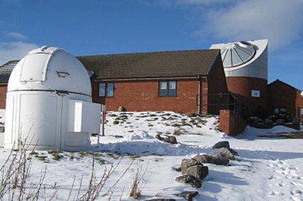Spaceguard Center in snow, photo: The Spaceguard Center