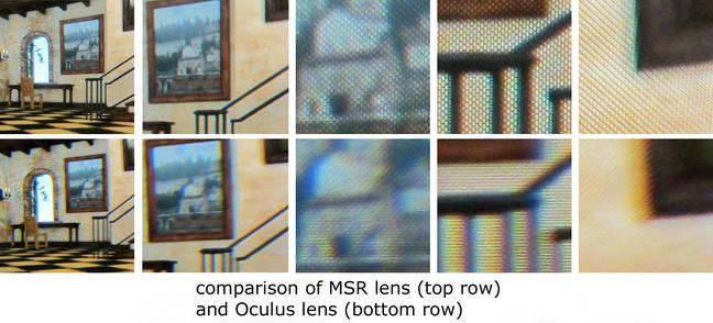 Image comparison, MR vs Oculus