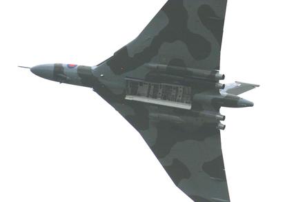 Vulcan bomber bomb bays, photo Phil Holding