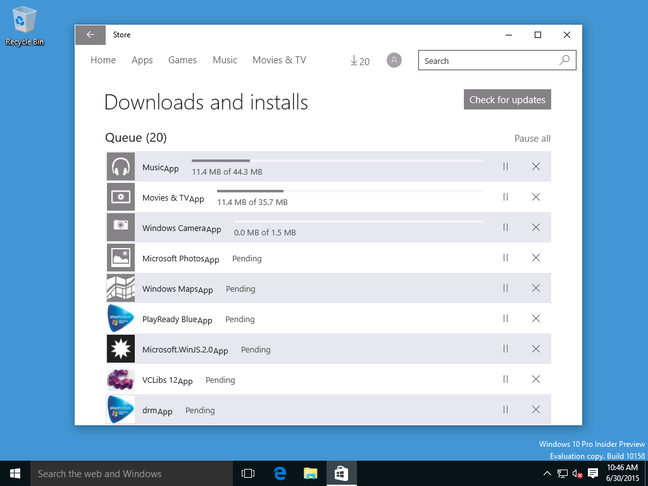 Windows is not fully installed until some apps download, including oddities
