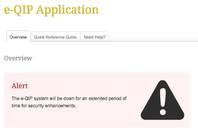 e-QIP's offline notice