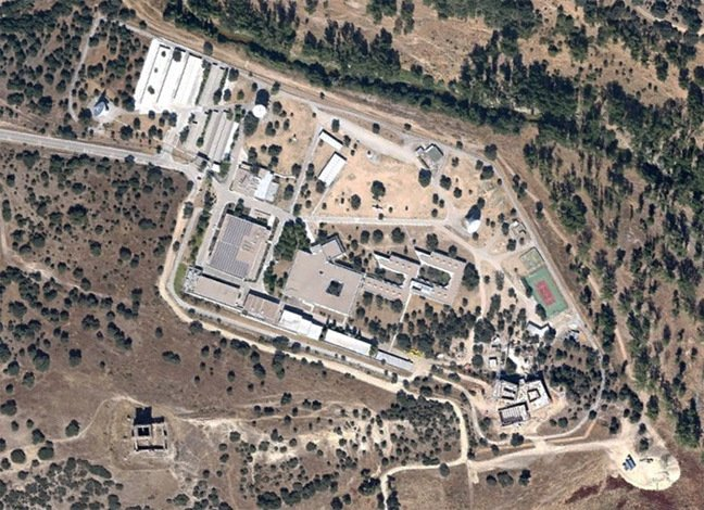 Google Earth satellite view of the ESA complex