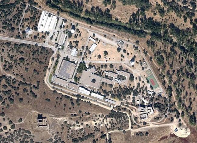 Google Earth satellite view of the ESA complex