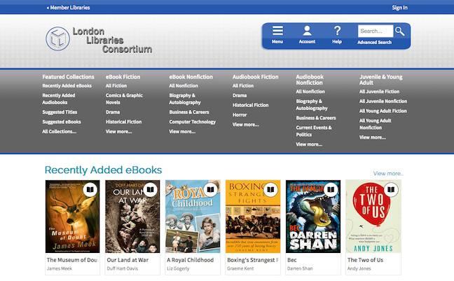 London Library Consortium Website